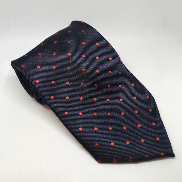 Equetech Polka Dot Show Tie TLS Navy and Red