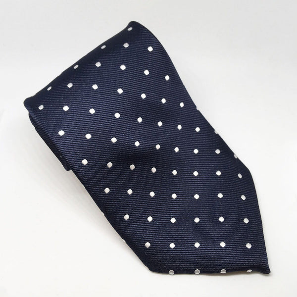 Equetech Polka Dot Show Tie TLS Navy and White