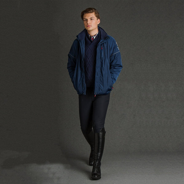Mountain Horse Team Jacket Navy on Male Model 03202