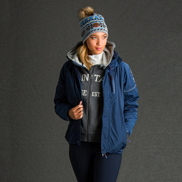 Mountain Horse Team Jacket in Navy worn by Woman
