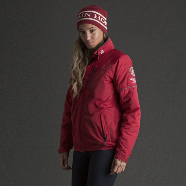 Mountain Horse Team Jacket in Red worn by Rider