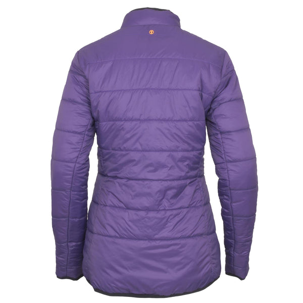 Toggi Babette Ladies Reversible Coat Plum Rear View