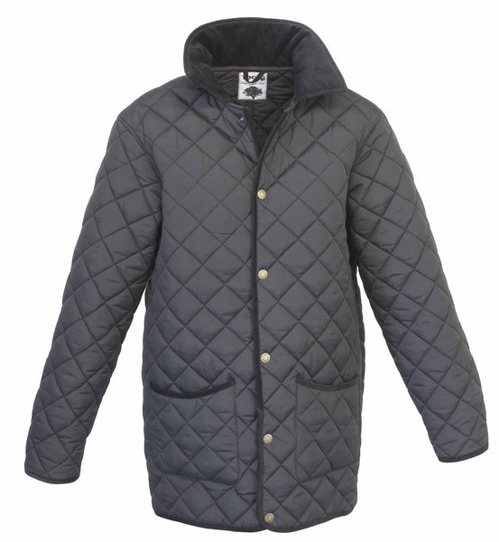 Toggi Kendal Mens Classic Quilted Jacket - XS / Black | EQUUS