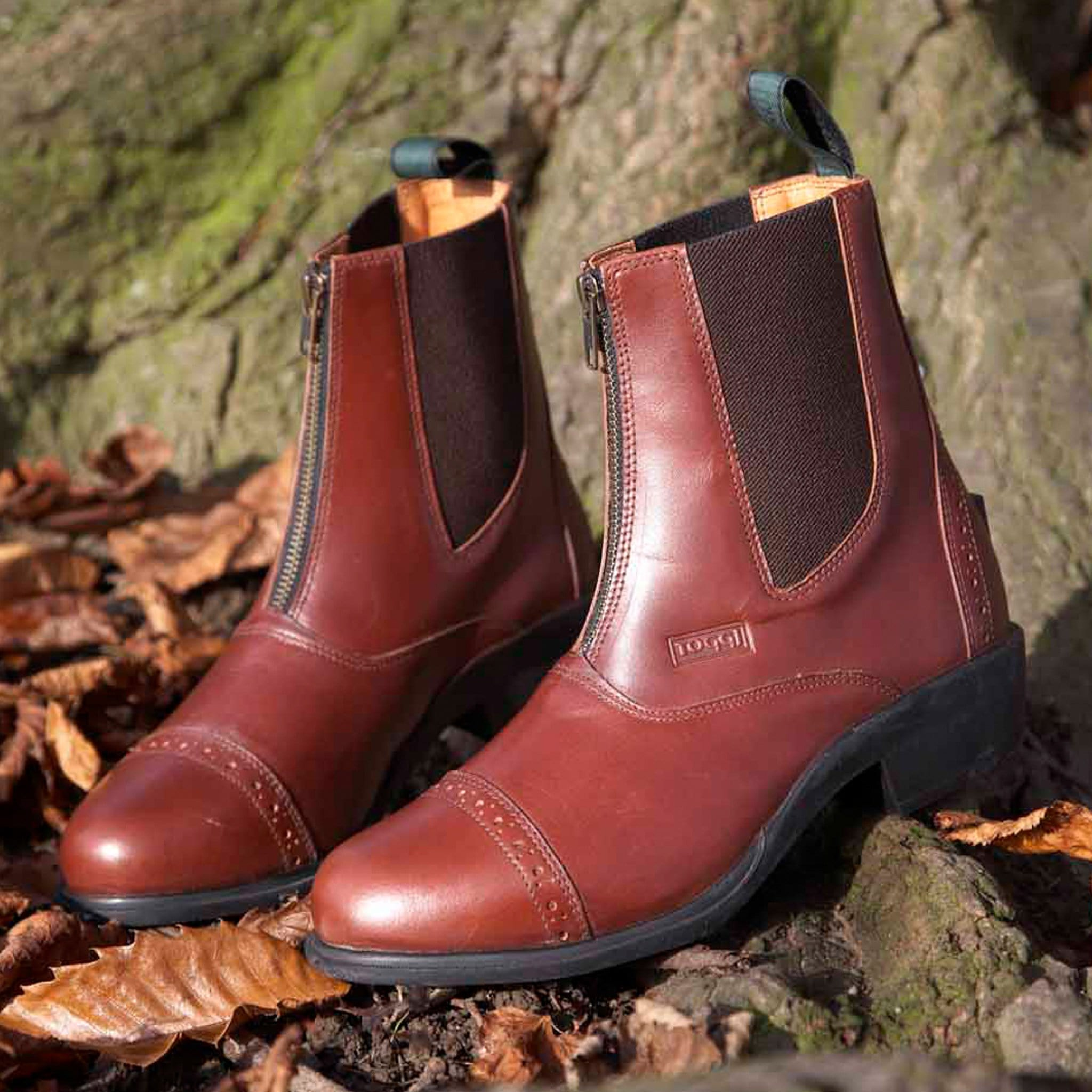 Toggi Richmond Leather Jodhpur Boot Brown Lifestyle