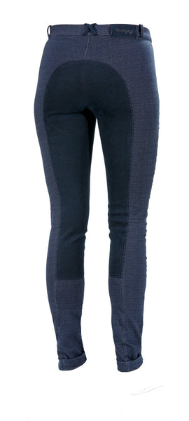 Toggi Somerford Ladies Full Seat Jodhpurs in Blue Denim Rear View