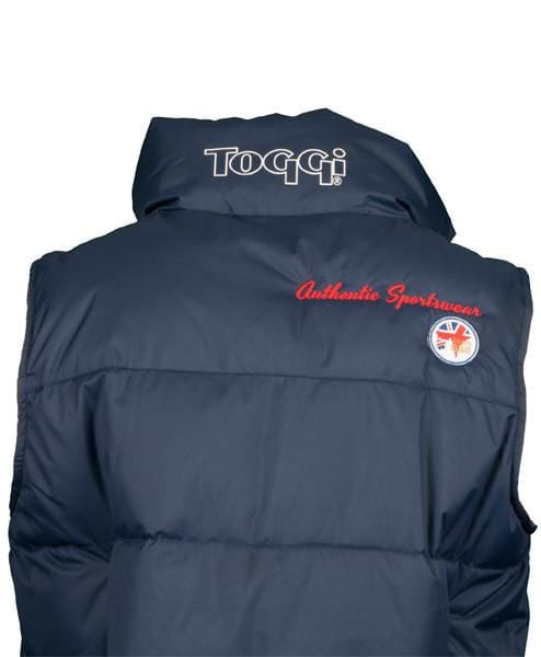Toggi Team GBR Athens Unisex Riding Gilet Rear View
