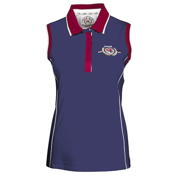 Toggi Team GBR Innsbruck Sleeveless Ladies Polo Shirt in Blue