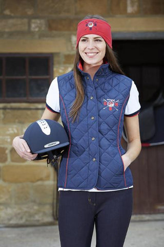 Toggi Team GBR Rio Ladies Quilted Gilet Front Lifestyle