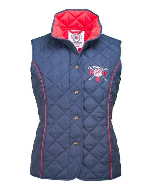Toggi Team GBR Rio Ladies Quilted Gilet Front