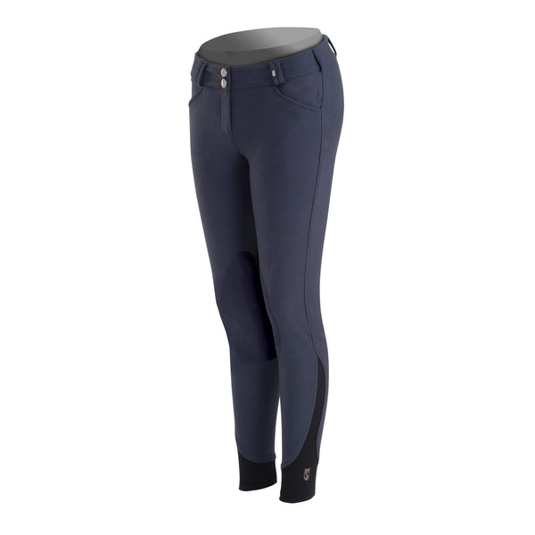 Tredstep Symphony Nero Ladies Knee Patch Breech - 24 / Nero Blue | EQUUS