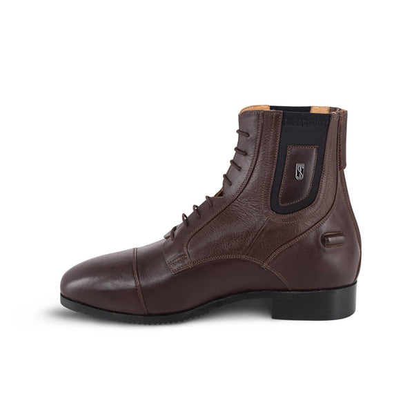 Tredstep Medici Paddock Boot with Lace and Rear Zip in Brown