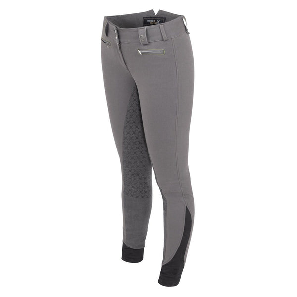 Tredstep Solo Grip Ladies Full Seat Breech in Grey Front View