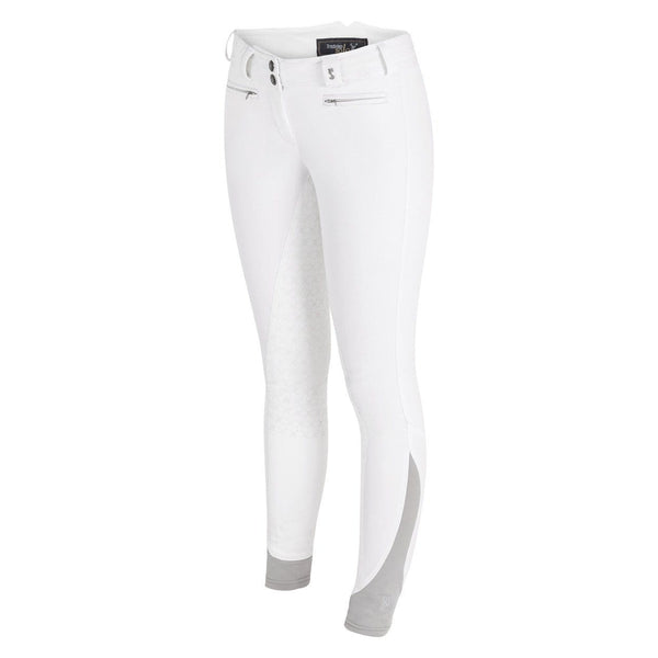 Tredstep Solo Grip Ladies Full Seat Breech in White Front View