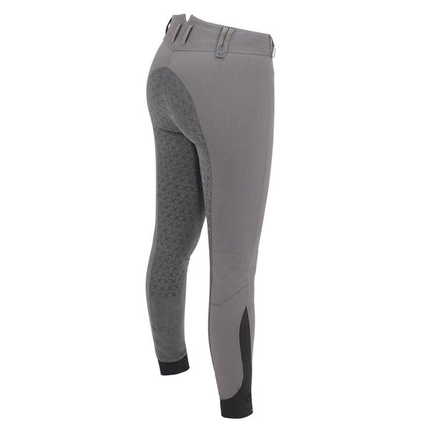Tredstep Solo Grip Ladies Full Seat Breech in Grey Rear View