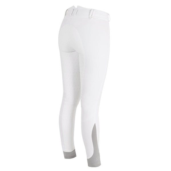Tredstep Solo Grip Ladies Full Seat Breech in White Rear View
