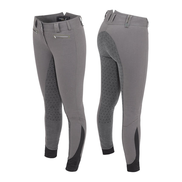 Tredstep Solo Grip Ladies Full Seat Breeches in Grey