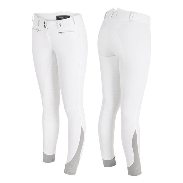 Tredstep Solo Grip Ladies Full Seat Breeches in White