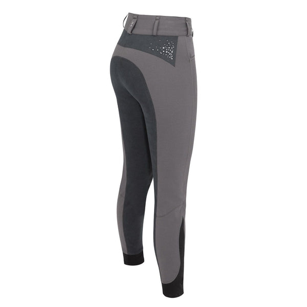 Tredstep Solo Volte Full Seat Breeches in Grey Rear View