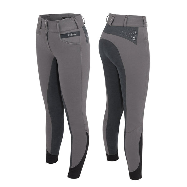 Tredstep Solo Volte Full Seat Breeches in Grey
