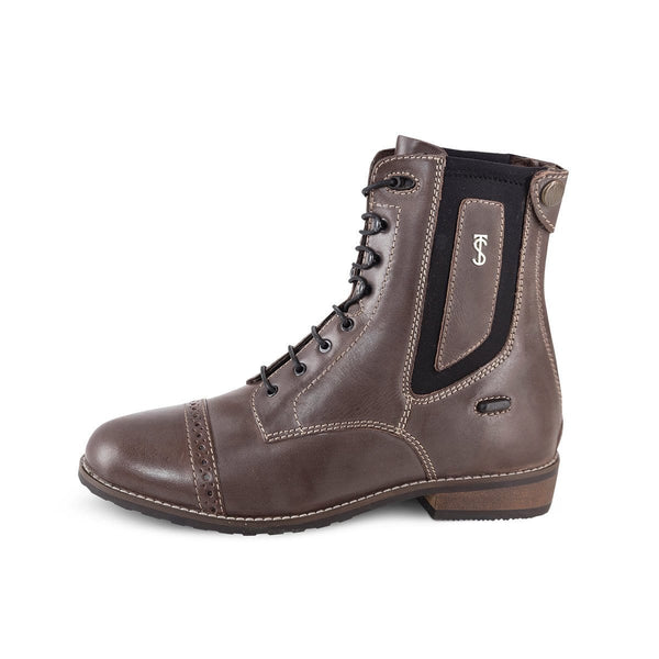 Tredstep Spirit Wax Lace Up Paddock Boot in Brown
