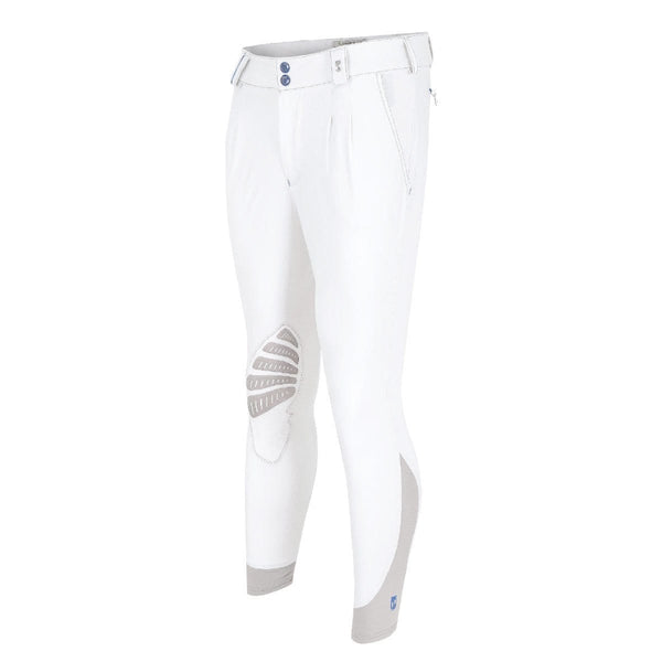 Tredstep Symphony Azzura Pro Gents Knee Patch Breech in White