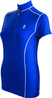 Tredstep Symphony Futura Sport Top in Blue Short Sleeves