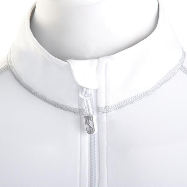 Tredstep Symphony Futura Long Sleeved Sport Top White Close Up Collar