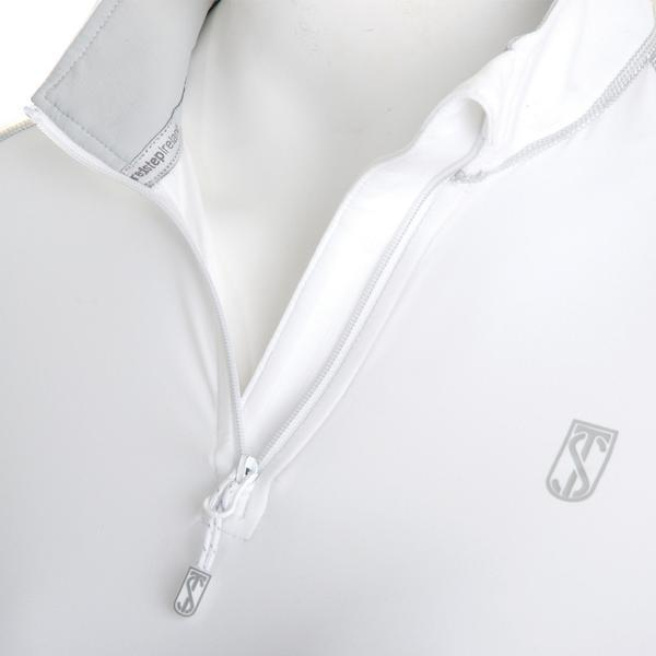 Tredstep Symphony Futura Long Sleeved Sport Top White Close Up Unzipped