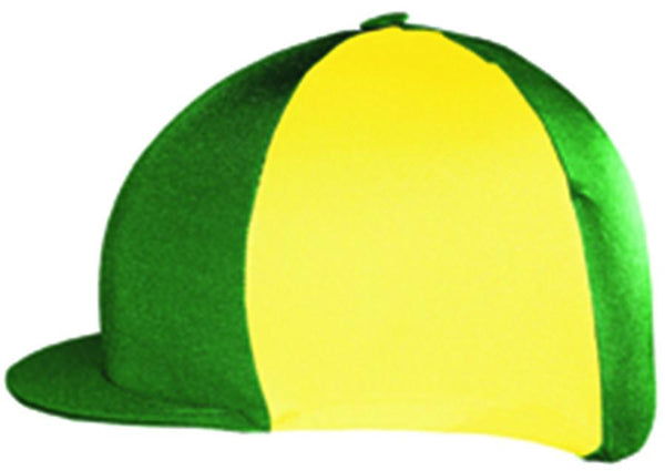 Saddlecraft Two Tone Lycra Hat Cover - Green and Yellow | EQUUS