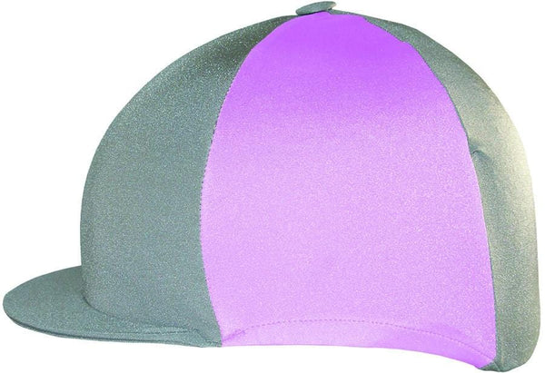 Saddlecraft Two Tone Lycra Hat Cover - Grey and Pink | EQUUS