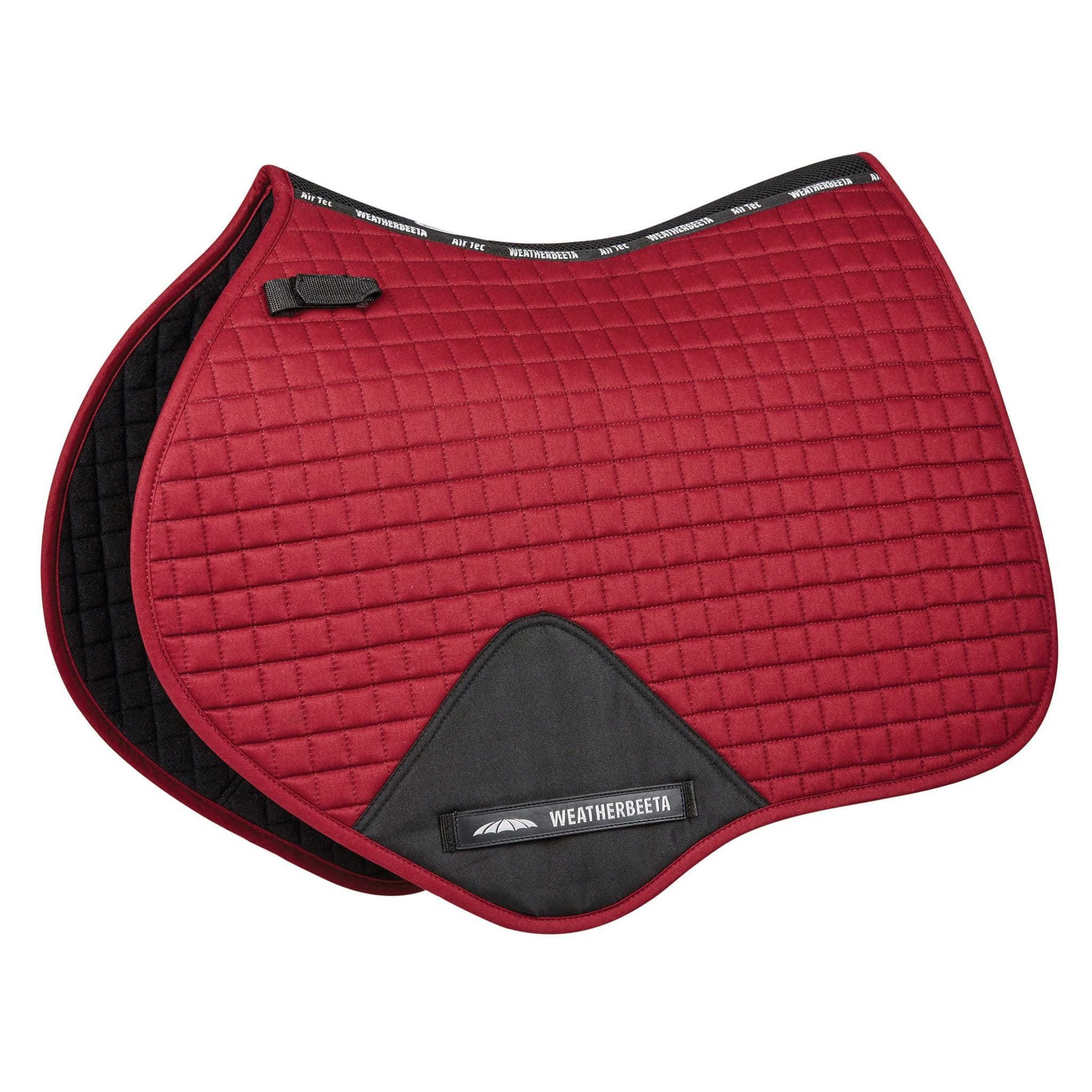 WeatherBeeta Prime Close Contact Jump Saddle Pad in Maroon 815073