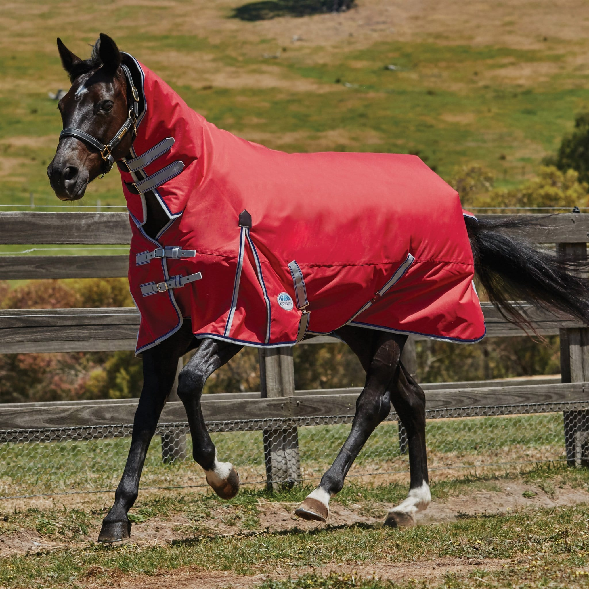 Weatherbeeta ComFiTec Classic Lightweight 0g Combo Neck Turnout Rug Red 803523