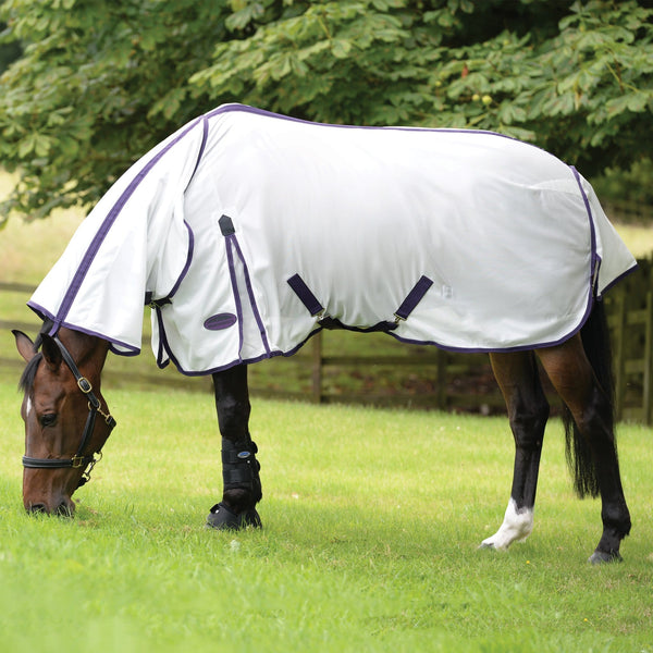 Weatherbeeta ComFiTec Essential Mesh Fly Rug Combo White Side View 804996