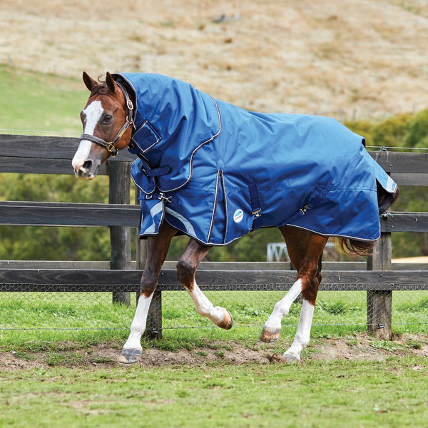 Weatherbeeta ComFiTec Ultra Tough Detach-A-Neck Heavyweight Turnout Rug Galloping Horse 801002