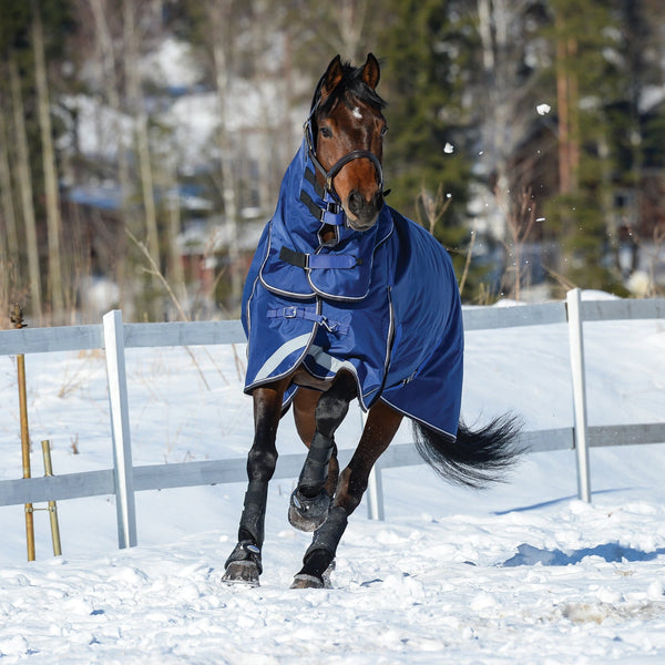 Weatherbeeta ComFiTec Ultra Tough Detach-A-Neck Heavyweight Turnout Rug Snow Front View 801002