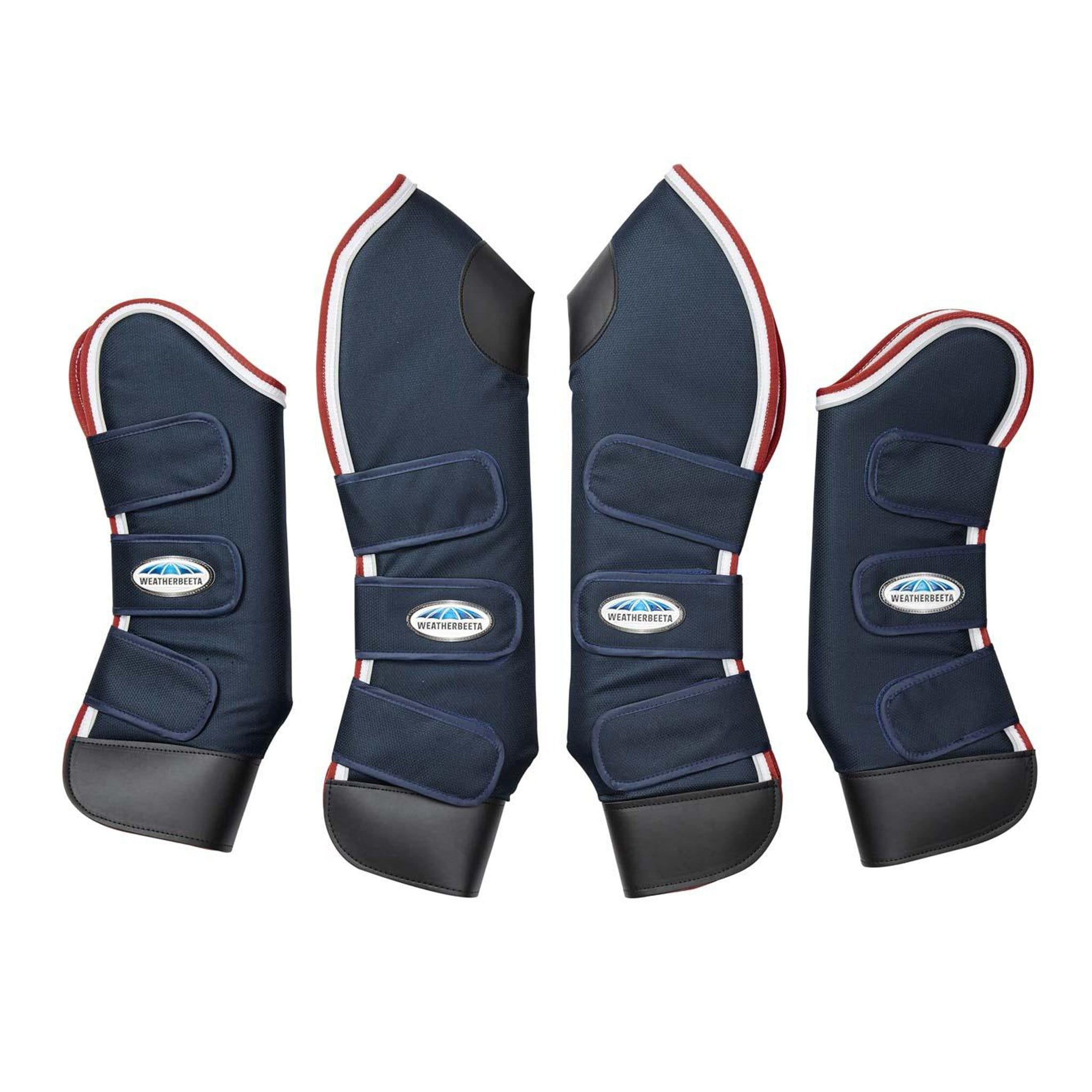 Weatherbeeta Deluxe Travel Boots Full Set Navy 592517