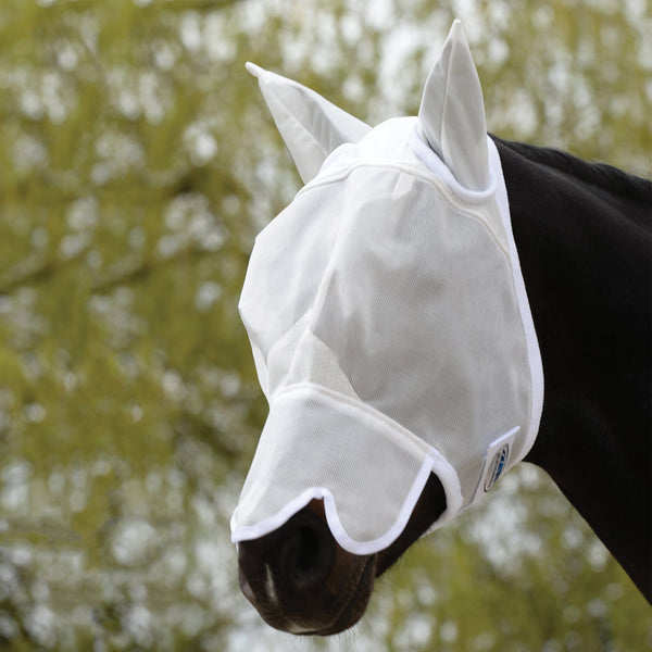 Weatherbeeta Fly Mask with Nose in White 592266