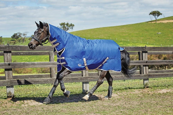 Weatherbeeta Genero 1200D Combo Heavy Turnout Rug - 5'6 / Blue and Cream | EQUUS