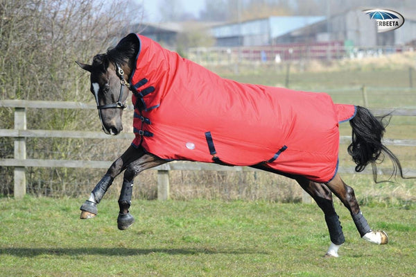 Weatherbeeta Genero 1200D Combo Heavy Turnout Rug - 5'6 / Red and Navy | EQUUS
