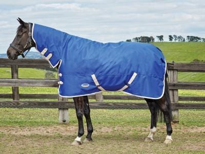 Weatherbeeta Genero 1200D Combo Medium Turnout Rug - 5'6 / Blue and Cream | EQUUS