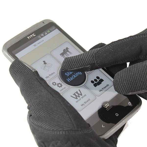 Woof Wear Smartphone Riding Glove in Use