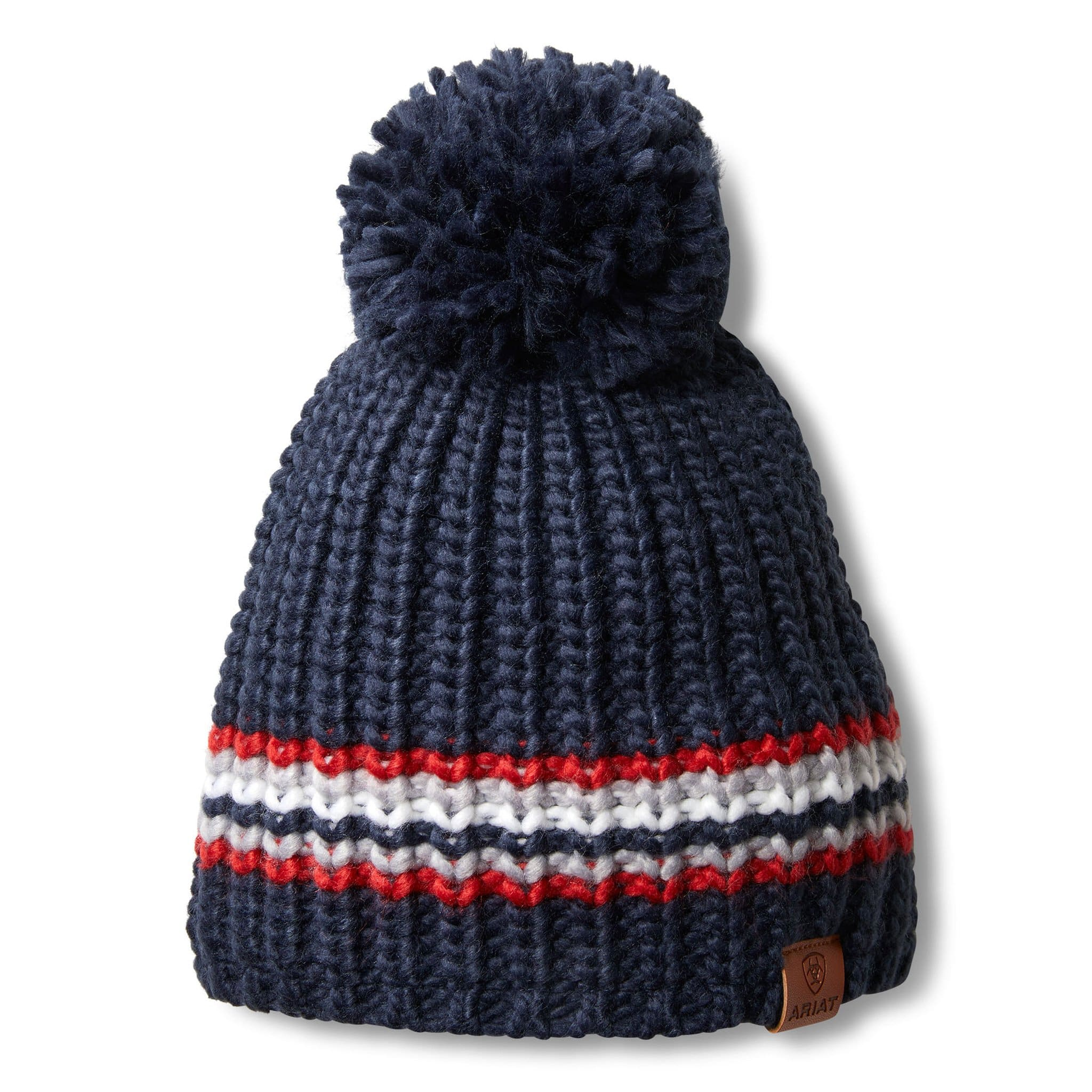 Ariat Unisex Salem Team Stripe Beanie 10033347 Navy, Red and White