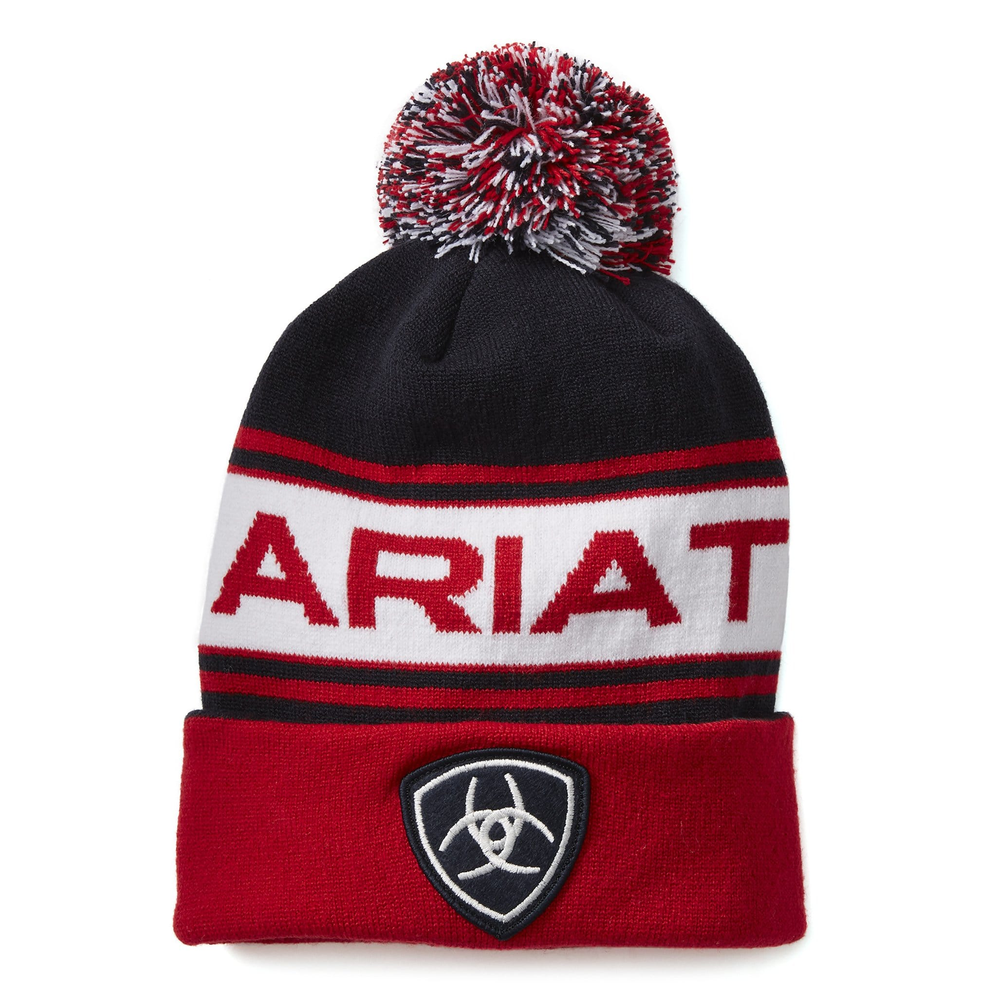 Ariat Team Beanie 10021125 Navy and Red