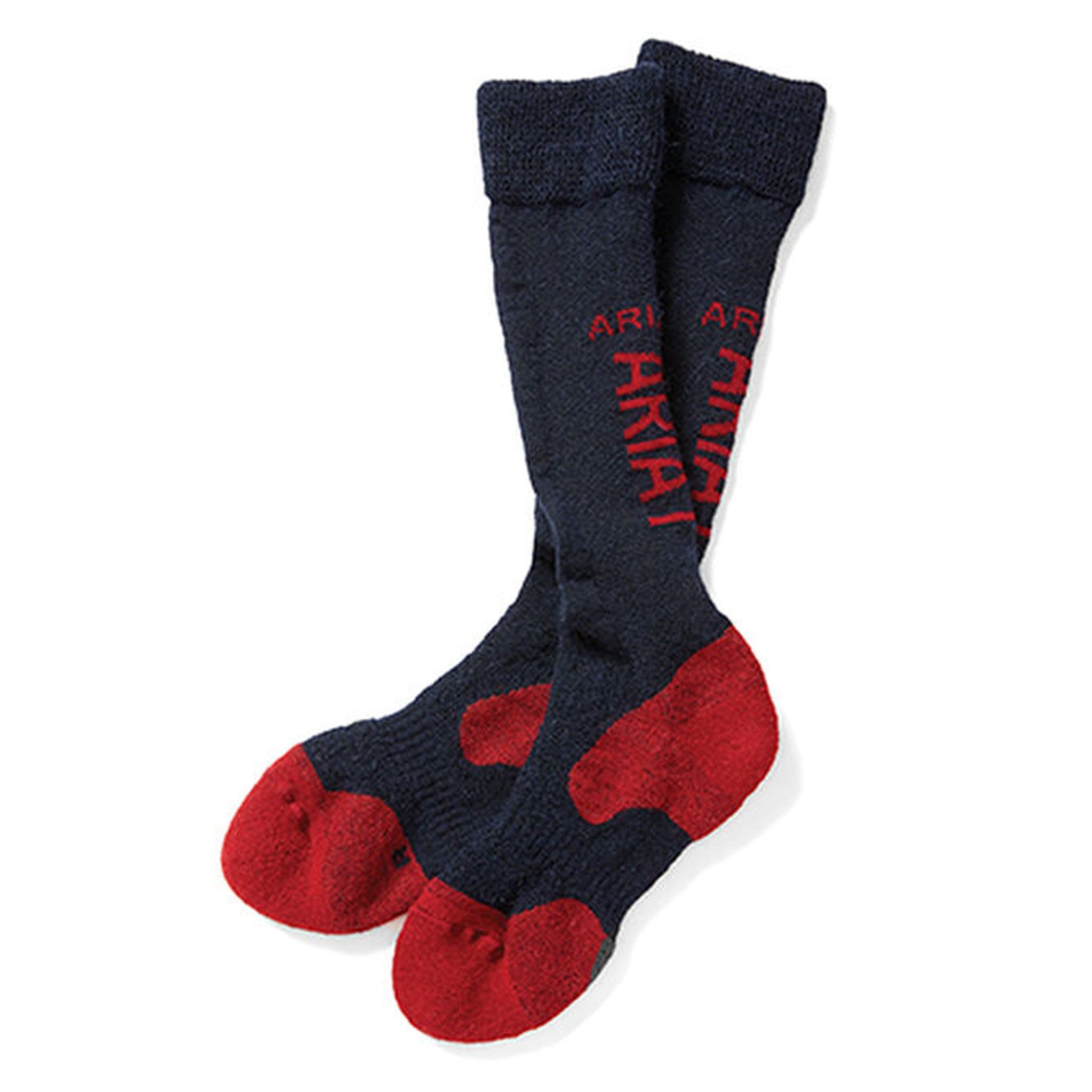 Ariat AriatTEK Alpaca Performance Riding Socks 10024325 Blue and Red