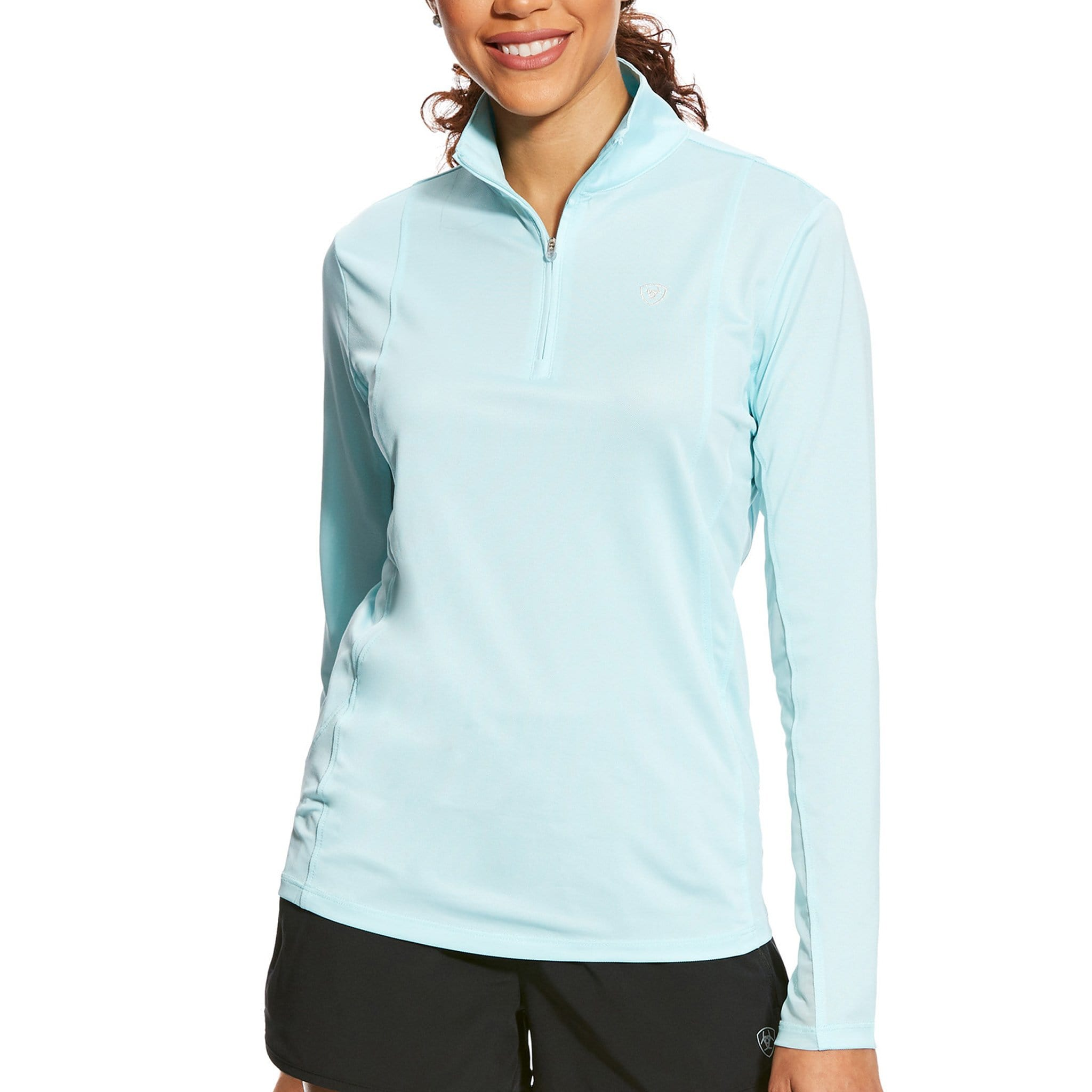 Ariat Sunstopper 1/4 Zip Top Sky Drift 10025664