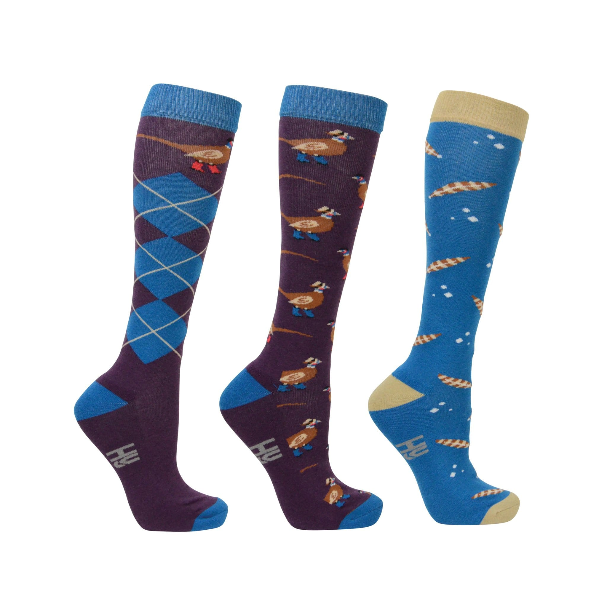 Hy Equestrian Patrick the Pheasant Socks (Pack of 3) 28445