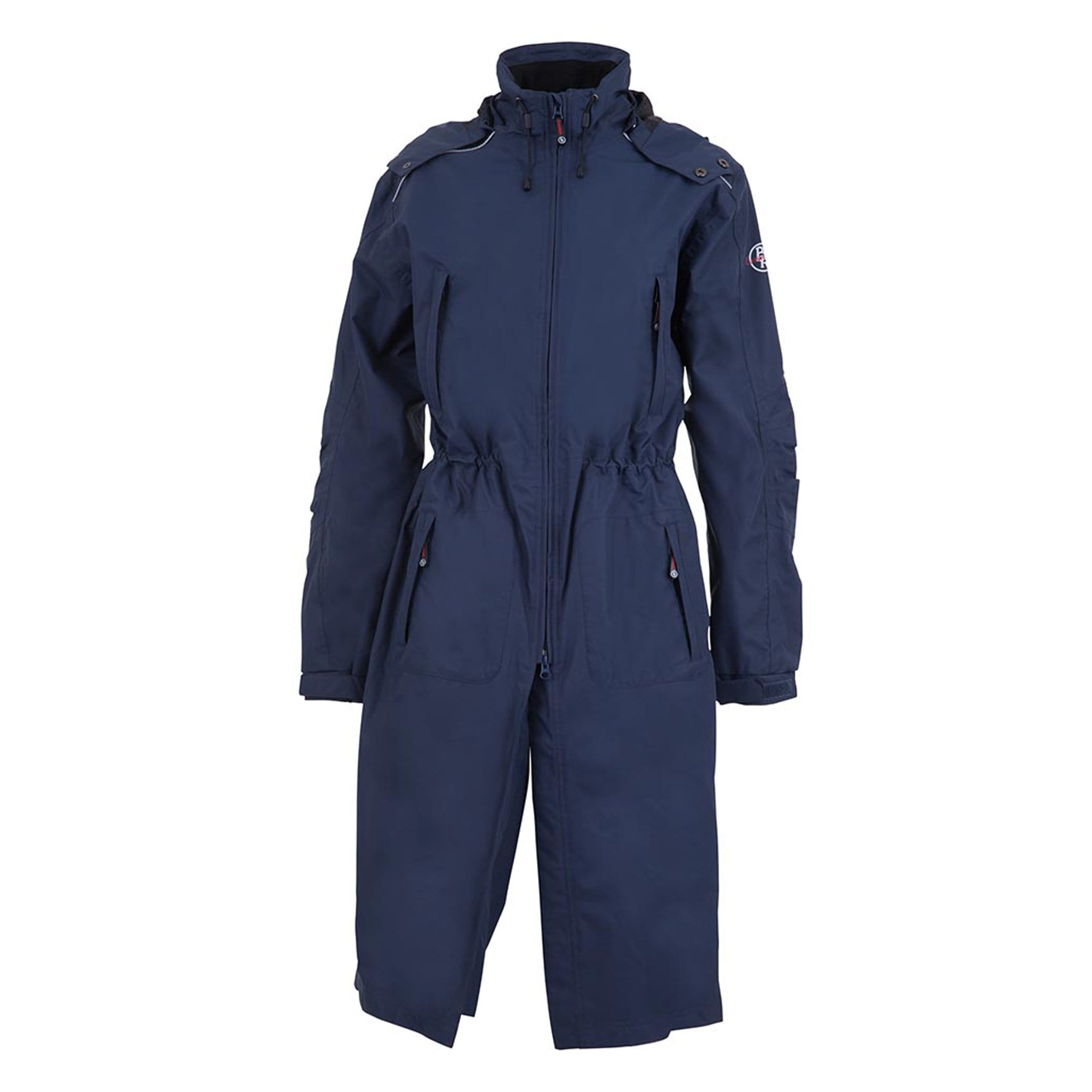 BR Equestrian Essential Long Waterproof Riding Coat 653006 Navy Front