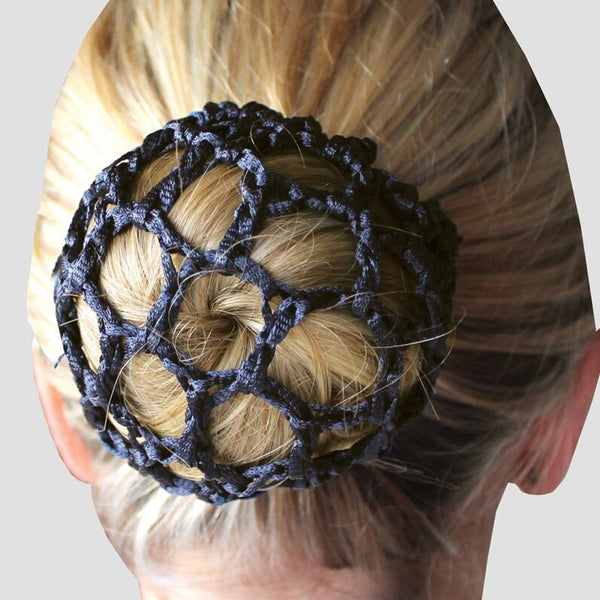 Equetech Crochet Bun Net in Black BUN BK Close Up