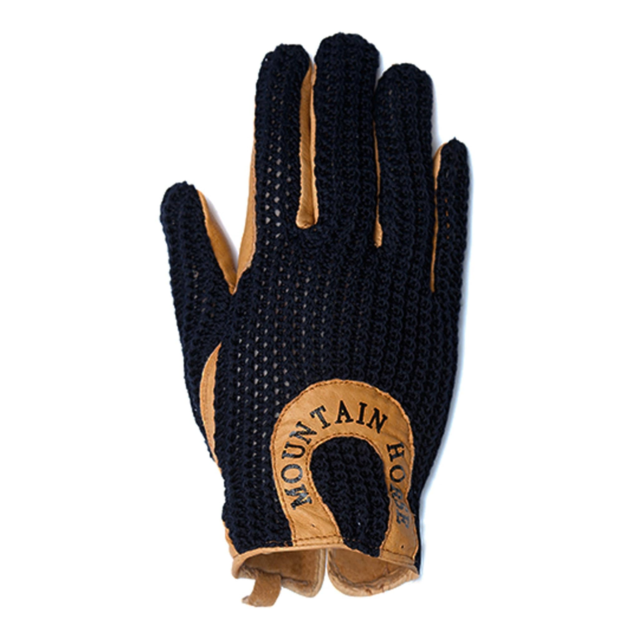 Mountain Horse Ladies Crochet Glove II Black