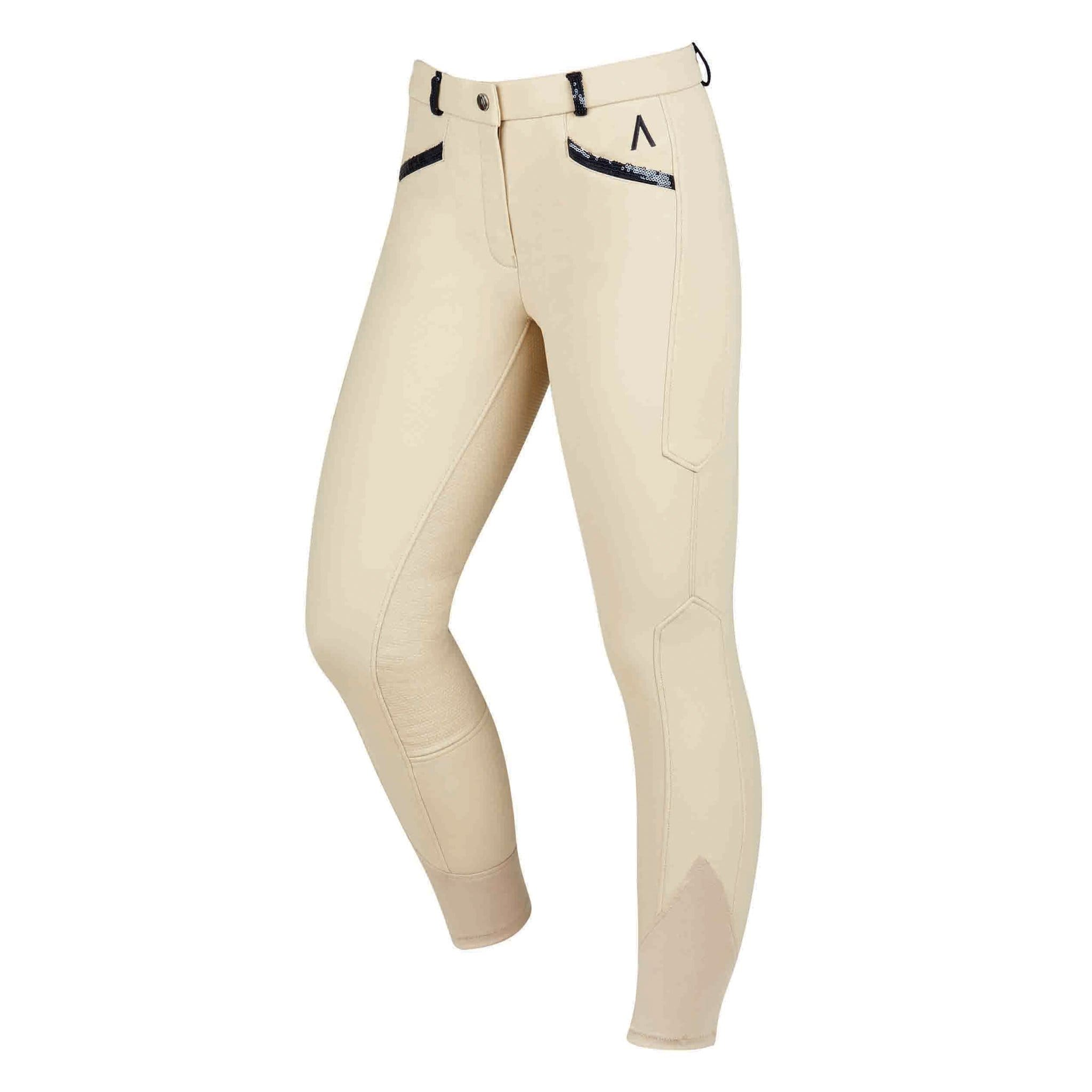 Dublin Black Linda Silicone Full Seat Breeches 1001556009 Tan Beige Front